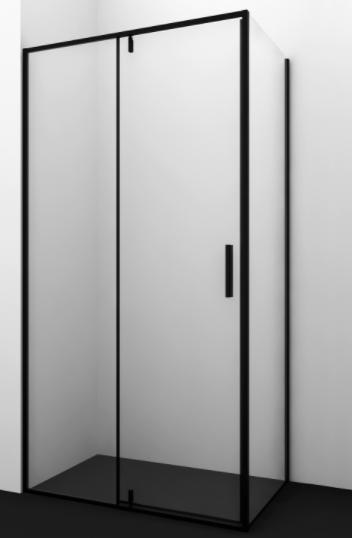 Душевое ограждение IDDIS Slide черный алюминиевый профиль ...